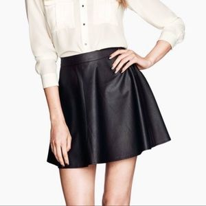 H&M Skirts - H&M | Faux Leather Skater Skirt